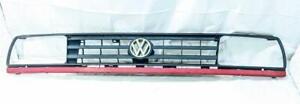 1988-1992 Volkswagen Golf MK2 Black w Red 3 Bar Front Grille w Emblem 165853653E
