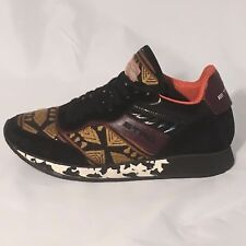 Womens Etro Black Suede & Geometric Paneled Fabric Leather Mesh Sneakers, Sz 5