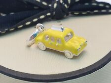 Genuine Links of London yellow taxi cab charm, New York, silver