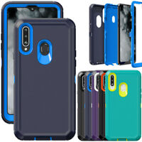 For Samsung Galaxy A20S Case Heavy Duty Shockproof Hybrid Hard Armor Phone Cover