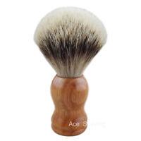 Natural Merbau Red Wood Handle Silvertip Badger Hair Shaving Brush Beard Shaver