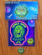 "New!!! Weird Spacey -N- Stupid Aliens™ 3"" Kiss-Cut ""Space Geek"" Vinyl Sticker!!"