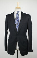New TOM FORD Black Wool 2 Button Suit Size 48/38 R Base V $4790
