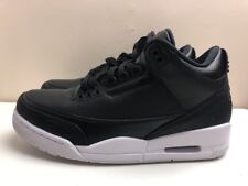 Nike Air Jordan 3 RETRÒ BASKET SCARPE UK 7 EUR 41 Nero Bianco 136064 020