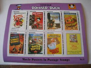 GUYANA     1993     VINTAGE DONALD DUCK MOVIE POSTERS   SHEETLET #3