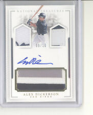 Alex Dickerson auto triple jersey patch card /10 2016 National Treasures Giants