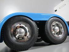 Alumium Rear Hubs Cover Wheel Nut Set Tamiya RC 1/14 Globeliner Scania Man Semi