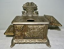 ANTIQUE 1900?? EAGLE CAST IRON MINIATURE STOVE #1085
