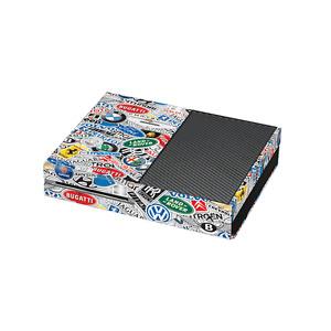 StickerBomb Car Company Logos Print Xbox One Vinyl Wrap / Xbox One Skin Stick...