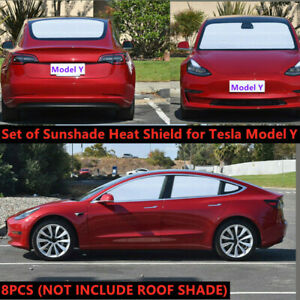 Front Rear Side Window Sun Visor Sun Light Shield Shade Custom For Tesla Model Y