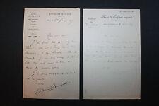 9 LAS Edmond Haraucourt à Octave Uzanne Bibliophile Bibliophilie 1885 1909
