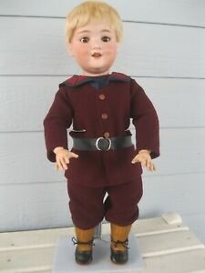 """19"""" Armand Marseille Antique Bisque Character Boy Doll - Mold #560a"""