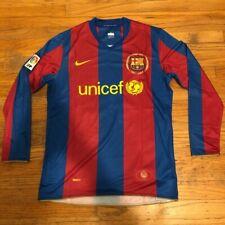Messi #19 Barcelona jersey 2007/08 long sleeve men medium