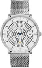 Skagen SKW6278 Men's Hald Solar Silver Dial Titanium Mesh Silver Tone Watch