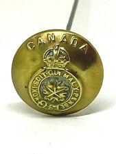 Antique Sweetheart Hat Pin Canadian General Service Button. Great Collectible.