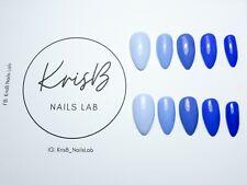 Hand Painted False Nails / Press on nails / Blue nails