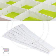 6X Adjustable Clapboard Drawer Divider Partition Storage Organiser Wardrobe UKES