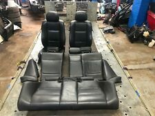 BMW 3 SERIES E46 COUPE BLACK LEATHER INTERIOR SEATS