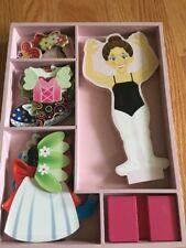 Melissa & Doug Magnetic Dress Up Doll Nina Ballerina