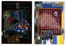 1X PETER FORSBERG 1999-00 Upper Deck MVP #H6 Hands of Gold Insert NMMT Lot Avai