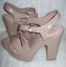 Jessica Simpson JET Charol Hebilla Sandalia Zapatos De Plataforma Con Tacón