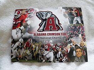 Alabama Crimson Tide Justin Woodall Auto National Champs Football 8x10 Photo