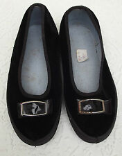 Vintage velvet slippers Dance stage gym shoes school uniform UNWORN size 11 daps