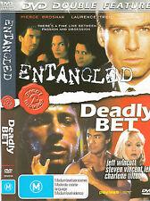 Entangled-1993-Pierce Brosnan/Deadly Bet-1992-Jeff Wincott-Movie-DVD