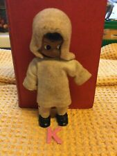 More details for antique kewpie eskimo /inuit doll in fur and skin yup'ik outfit