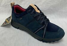 BNIB Clarks Ladies Tri Trek GTX Navy Leather Trigenic Gore Tex Walking Shoes