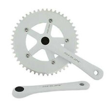 White Shun 48T Alloy 170 Single Speed Fixed Gear Track Fixie Crankset Crank Set