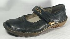 El NaturaLista Leather Mary Jane Clogs Womens 9 Med EUR 40 Brown Shoe Flats Work