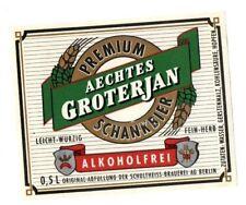 Germany - Beer Label - Schultheiss Brauerei, Berlin - Aechtes Groterjan