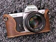 Genuine Leather Nikon FM2, FM3A, FE, FE2 Tan Design - BRAND NEW