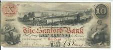 Maine The Sanford Bank $10 1860 red overprint G24a anchor train #450 Note Rare