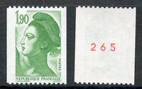 TIMBRE FRANCE NEUF N° 2426a ** LIBERTE DE DELACROIX / ROULETTE N° ROUGE AU DOS