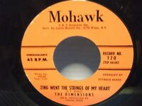 "The Dimensions,Mohawk 120,""Zing Went The Strings Of My Heart"",US,7""45,doo wop,M"