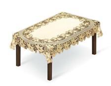 "Rectangular lace cream/dark gold Tablecloth NEW 54"" x 87"" (140x220cm) X'mas gift"