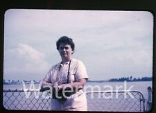 1960s  amateur Photo slide Lady with camera