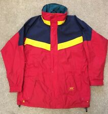 RARE VINTAGE 1990'S HELLY HANSEN HELLY TECH SAILING COAT JACKET L LARGE SUIT XL