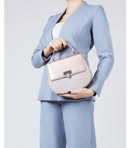 NWT Carlo pazolini rose gold leather Handbag Shoulder Tote Bag