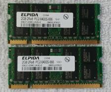 ELPIDA 4GB 2Rx8 PC2-6400S-SODIMM
