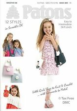 VAT Free Hand Knitting & Crochet PATTERN ONLY Patons Girls Bags & Garments 3805