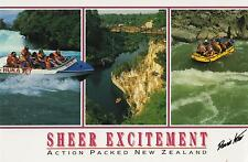 LARGE SHEER EXCITEMENT NEW ZEALAND POSTCARD -  DAVID KERR PHOTOS - NZ PC
