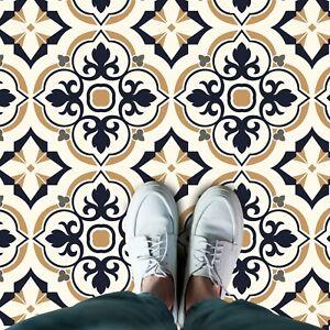European Vintage Floral Pattern Tiles Self-adhesive kitchen, bathroom home floor