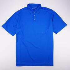 NIKE GOLF Dri Fit Stay Cool UV Protection 3 Button Polo Golf Shirt Blue Mens 2XL