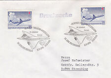 Austria 1976 45th anniversary of ofsv in the year of Concorde Cover Très bon état