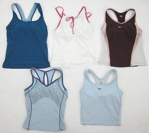 Five (5) Nike Fit-Dry Dri-Fit Yoga Running Gym Workout Bra Tops Size Small