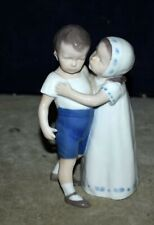 Bing And Grondahl B&G Denmark Love Refused Kissing Boy #1614 Porcelain Figurine