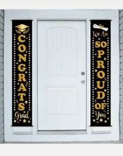 Graduation Banner Party Supplies 2020 - Congrats Grad Porch Sign Outdoor Party